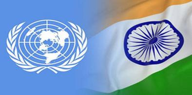 UN-India flags (File)
