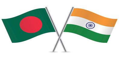 Bangladesh-India flags (File)