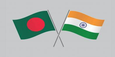 India-Bangladesh flags (File)