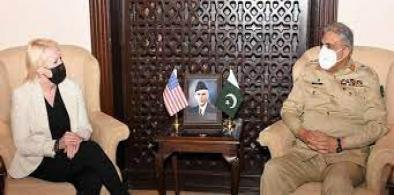 Pakistan Army Chief General Qamar Jawad Bajwa met US Charge d' Affairs to Pakistan Angela Aggeler